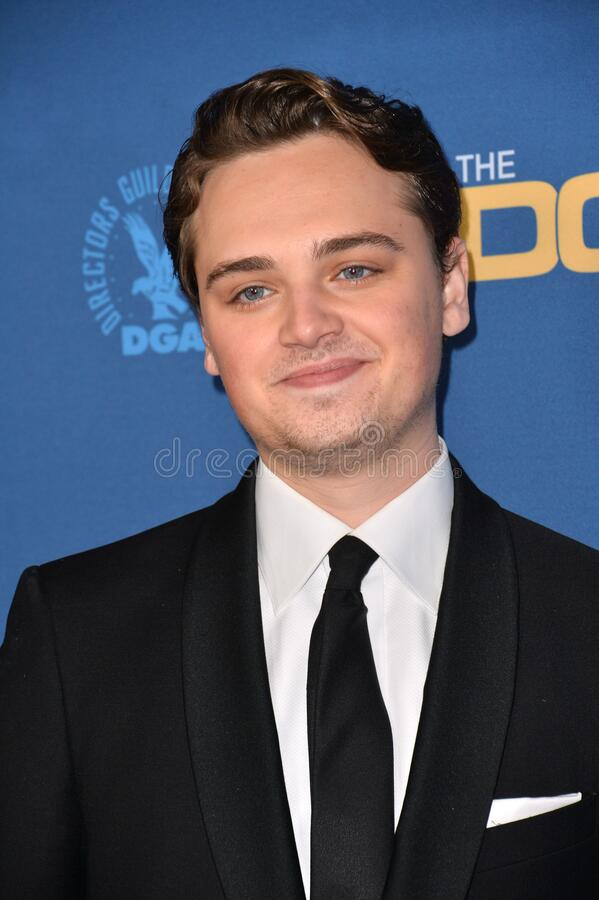 Dean-Charles Chapman. LOS ANGELES, USA. January 25, 2020: Dean-Charles Chapman at the 72nd Annual Directors Guild Awards at the Ritz-Carlton Hotel..Picture: Paul royalty free stock images