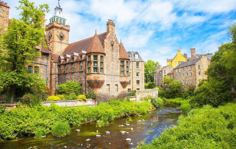 Dean Village, Edinburgh royalty-vrije stock foto