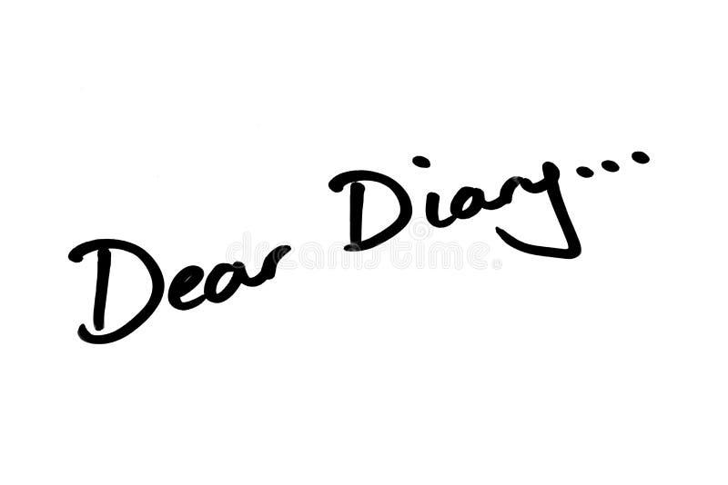 Dear Diary. … handwritten on a white background vector illustration