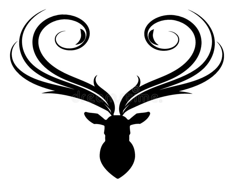 Abstract deer head silhouette royalty free illustration