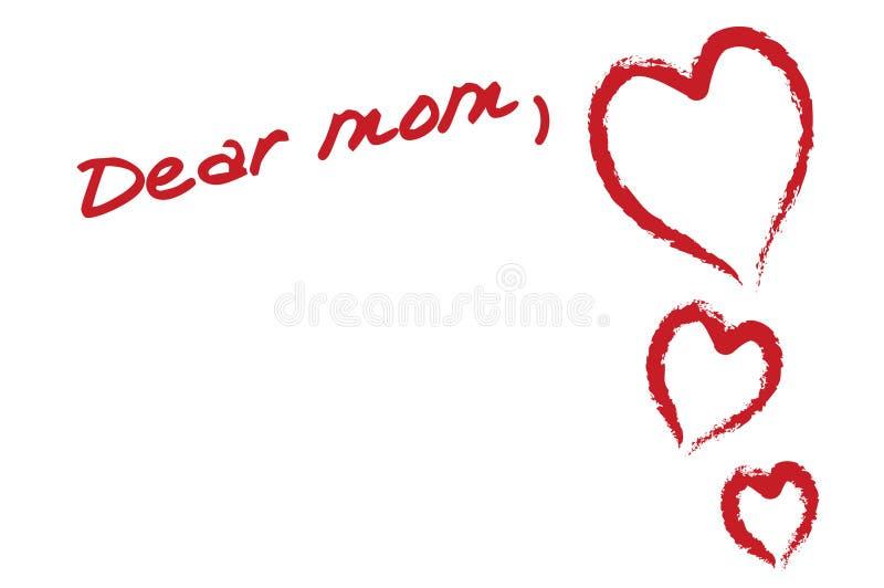 Dear mom vector illustration