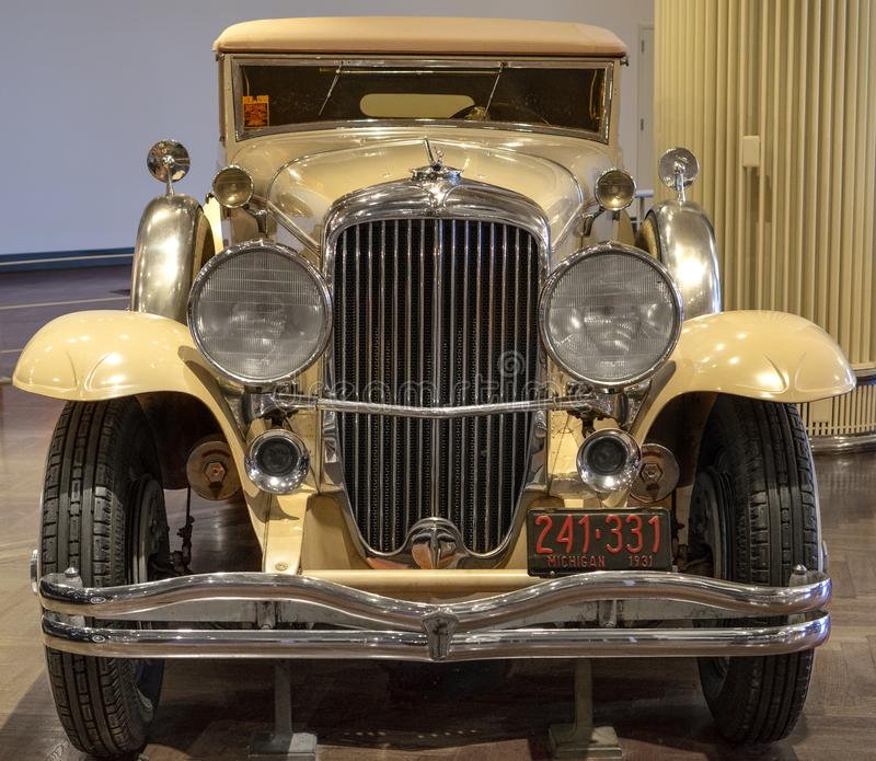 Dearborn, MI / USA - 04.21.2018 : The 1931 Duesenberg Model J at the Henry Ford Museum. Dearborn, MI USA - 04.21.2018 : The 1931 Duesenberg Model J at the Henry royalty free stock photos