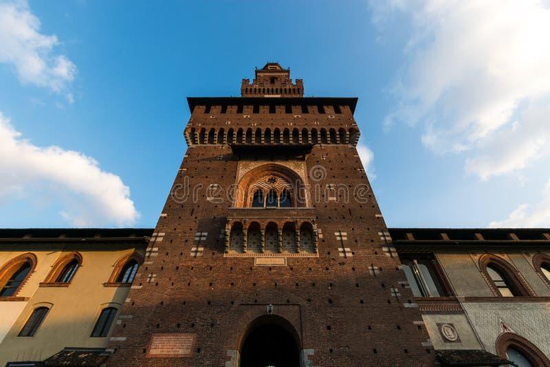 Deatail der italienischen Architektur, Mailand, Italien lizenzfreie stockbilder