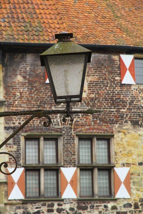 Deatail von Vischering-Schloss lizenzfreies stockbild