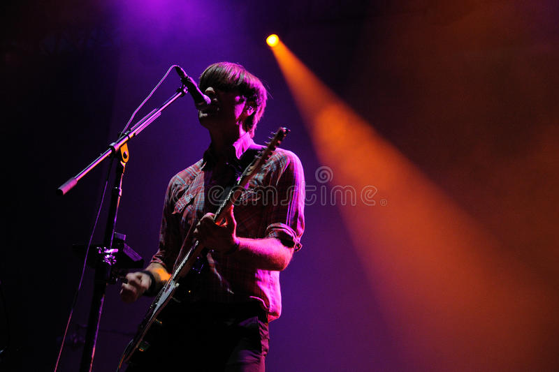 Death Cab For Cutie band performs at San Miguel Primavera Sound Festival royalty free stock images