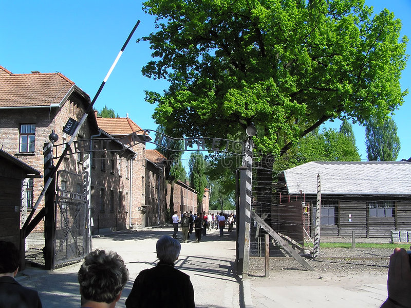 Death camp. In auschwitz in poland royalty free stock photography