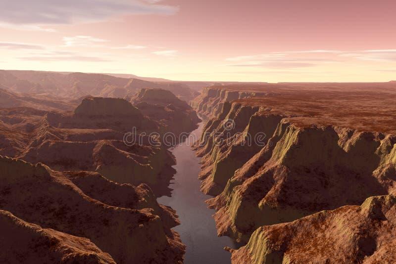 Download Death canyon (red) stock illustration. Illustration of horizon - 2199361