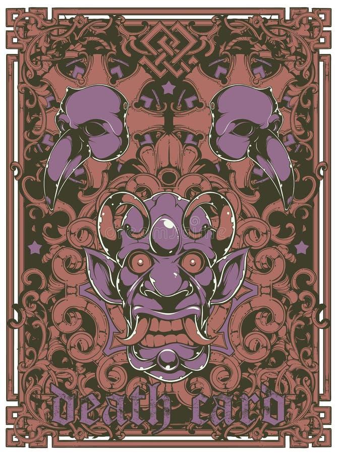 Download Death card stock vector. Image of skeleton, print, grunge - 30573291