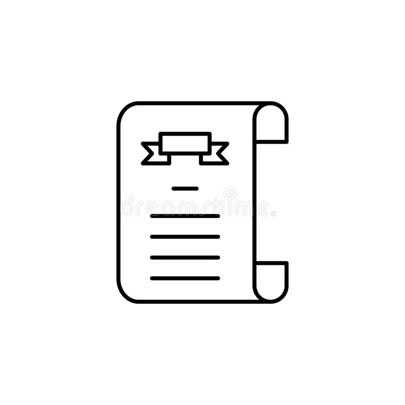 death certificate outline icon. detailed set of death illustrations icons. can be used for web, logo, mobile app, UI, UX royalty free illustration