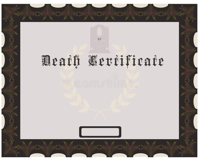 Death Certificate stock illustration