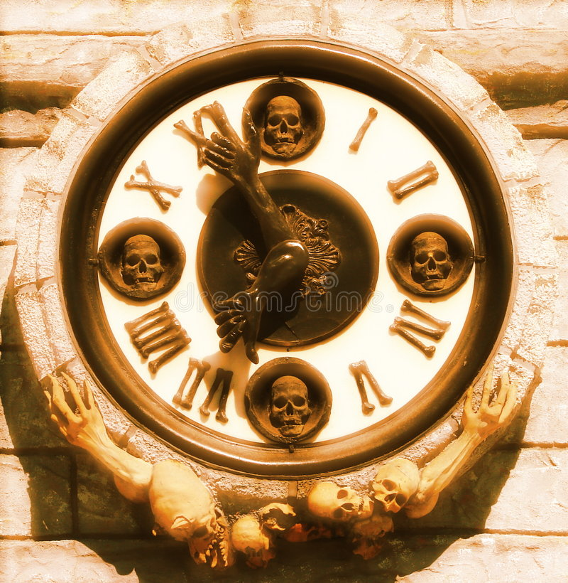 Death Clock royalty free stock photography