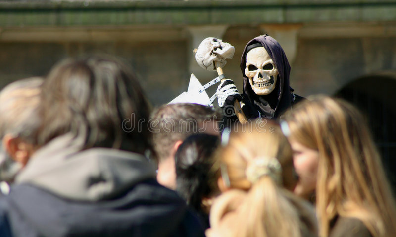 Download Death in a crowd stock image. Image of life, reaping, grim - 2242841