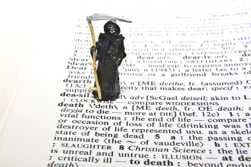 Death Definition stock images