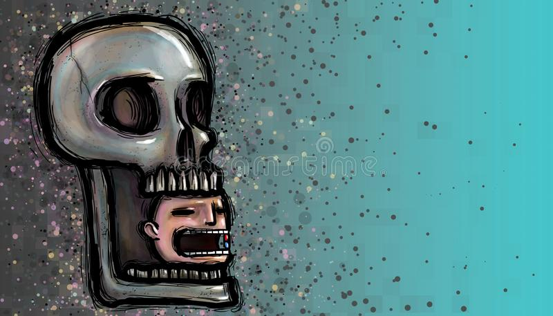 Death by drug dependence illustration vector illustration