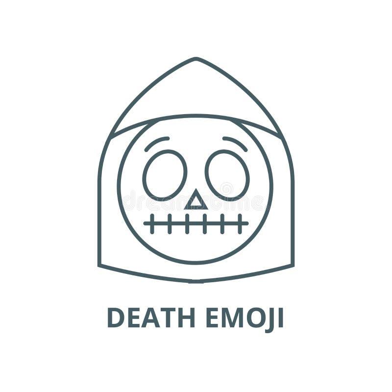 Death emoji line icon, vector. Death emoji outline sign, concept symbol, flat illustration. Death emoji line icon, vector. Death emoji outline sign, concept stock illustration