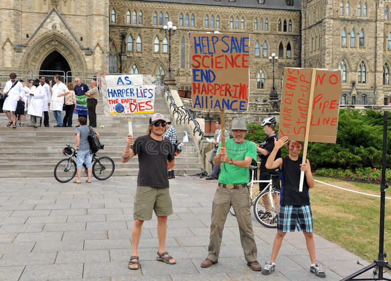 Death of Evidence March in Ottawa stock photo