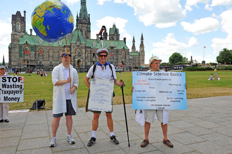 Death of Evidence March in Ottawa. Hundreds of Canadian scientists marched on Parliament Hill in the Death of Evidence march to protest deep cuts and stock images