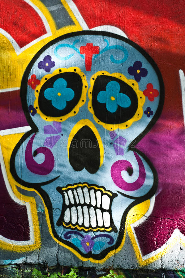 Death face royalty free stock photography