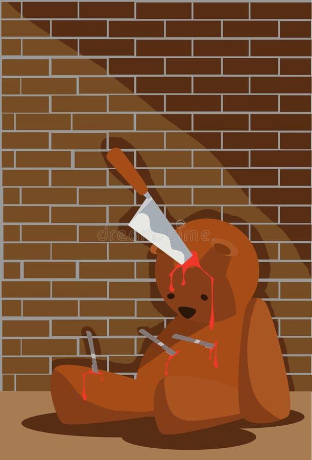 Download Death Halloween Bear stock illustration. Illustration of zombie - 15735841