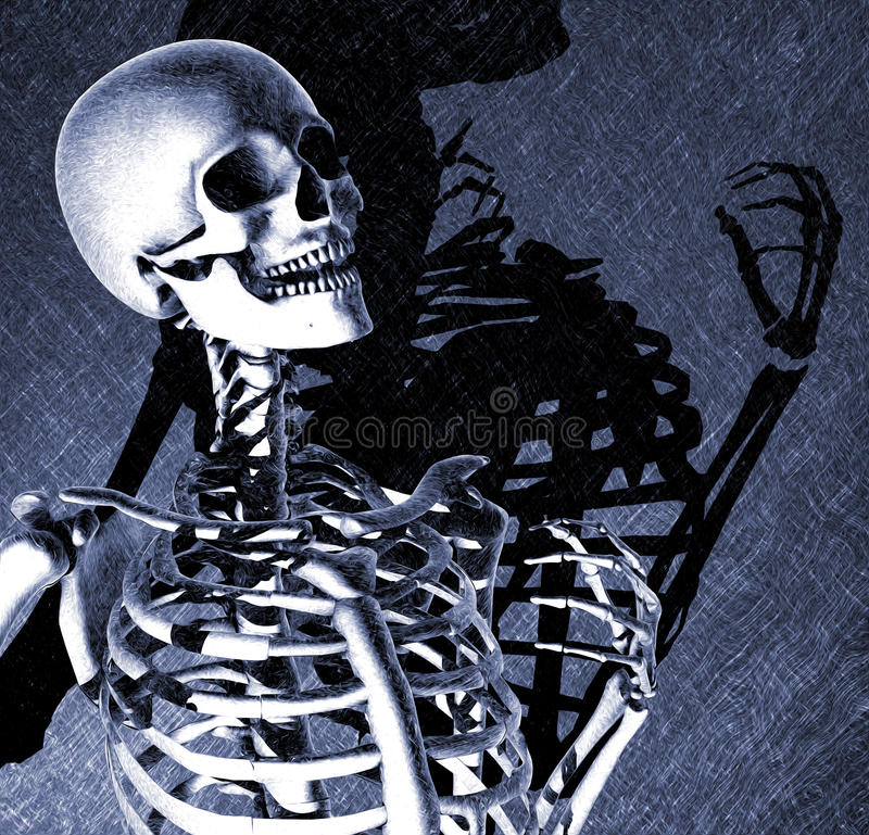 Download Death Has Something to Say stock illustration. Illustration of render - 23032562
