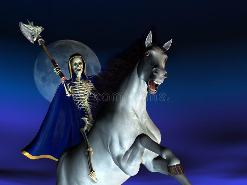 Download Death on Horseback stock illustration. Image of scary, moonlight - 176881