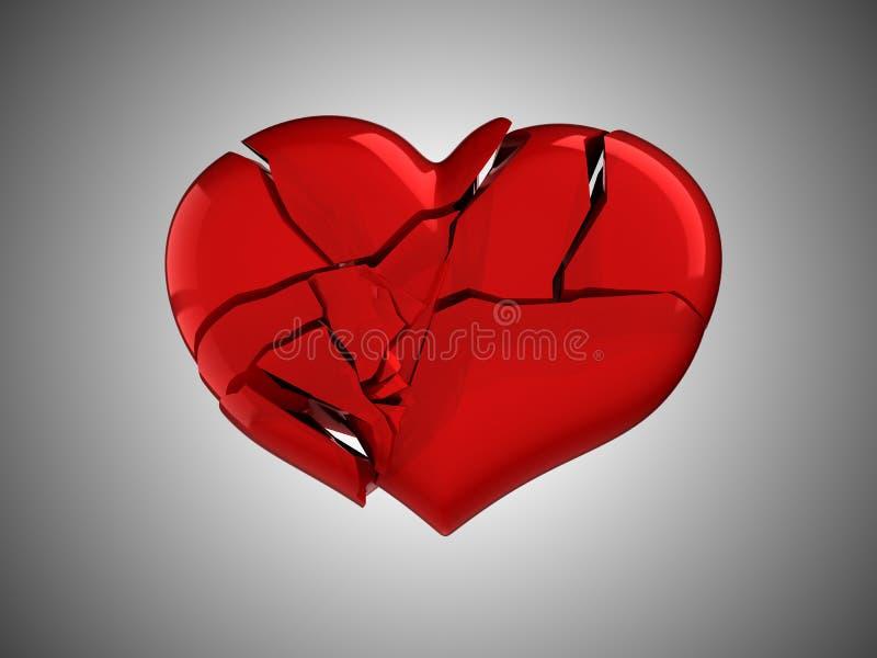 Death and illness. Red Broken Heart