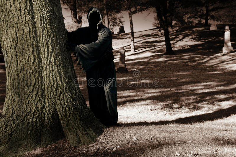 Download Death Lurking In The Cemetery Stock Image - Image: 21497395