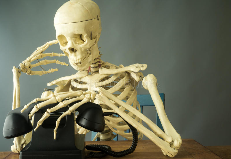 Download Death Making a Phone Call stock image. Image of scary - 26609339