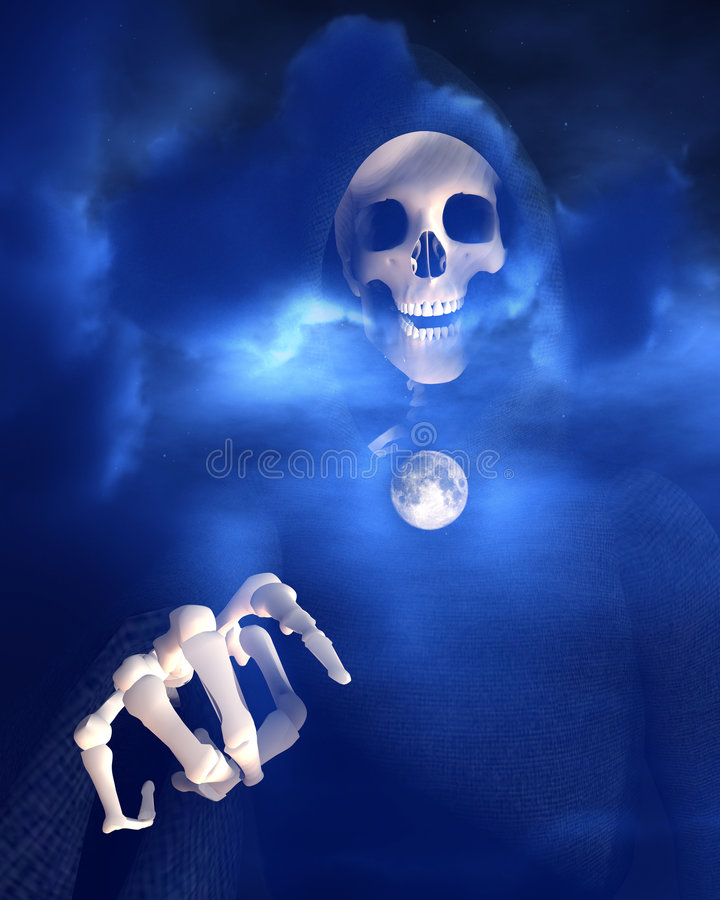 Death And Moon 6 stock photo