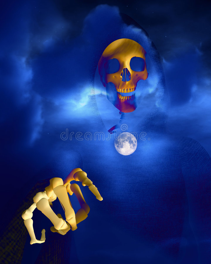 Death And Moon 7 stock images