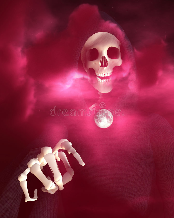 Death And Moon 8 royalty free stock photos