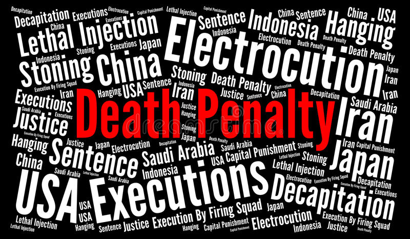 Death penalty word cloud. Concept vector illustration