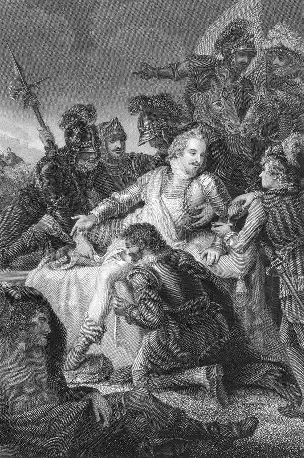 Death Of Philip Sidney Editorial Stock Photo