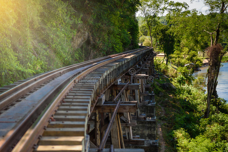 Death railway, built during World War II,Kanchanaburi Thailand royalty free stock images