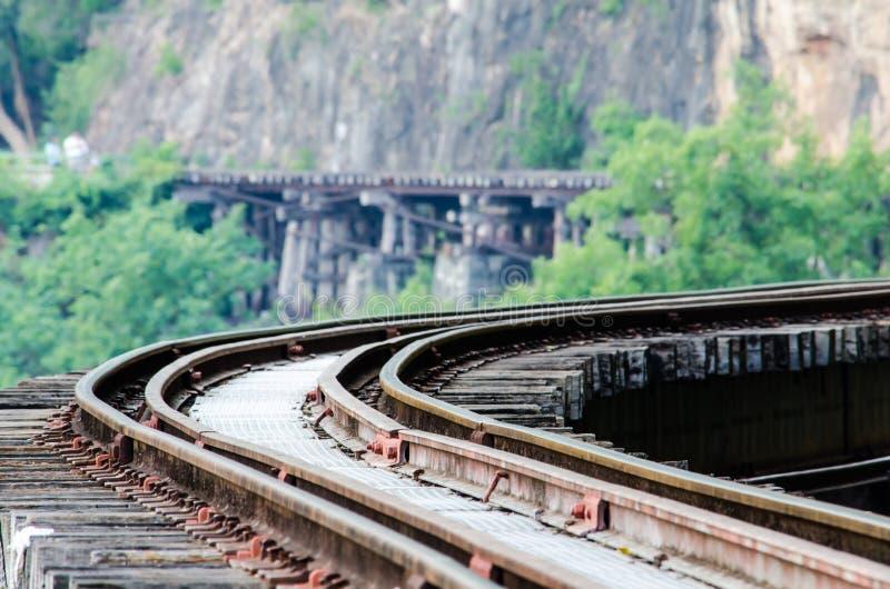 The Death Railway. (Thailand-Burma railway) on World War II royalty free stock photo