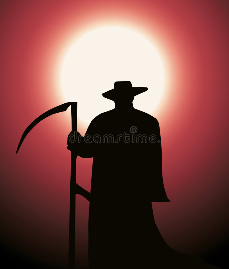 Download Death reaper stock illustration. Image of grave, imaginary - 4344696