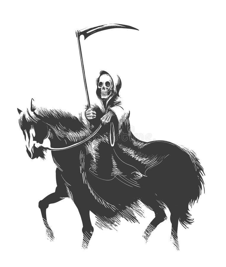 Death Rides Horse vector illustration