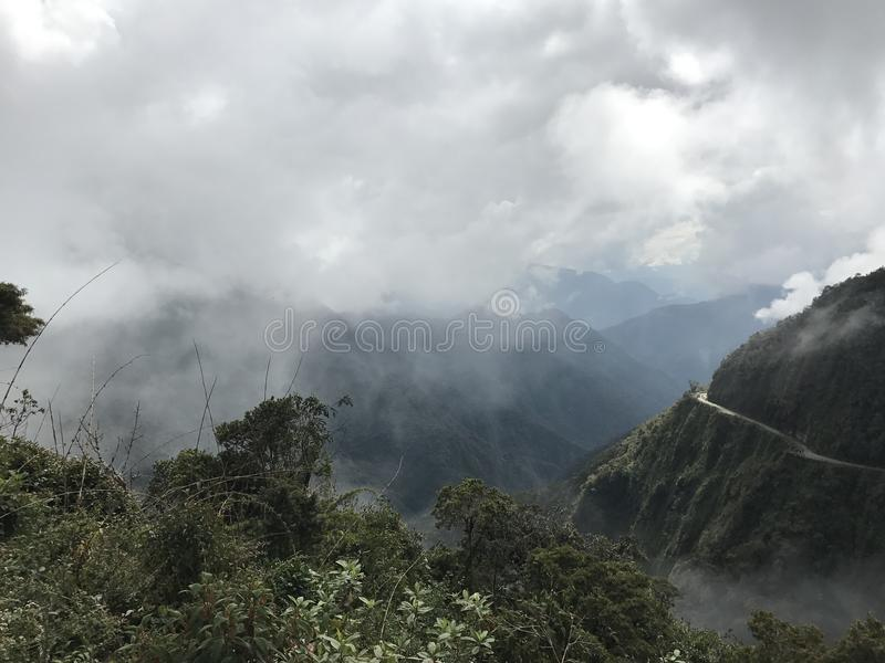 Death Road in Bolivia, south America. stock photos