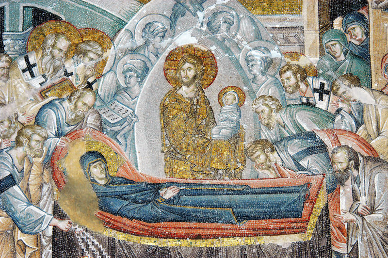 The death scene of Virgin Mary, Istanbul royalty free stock photo