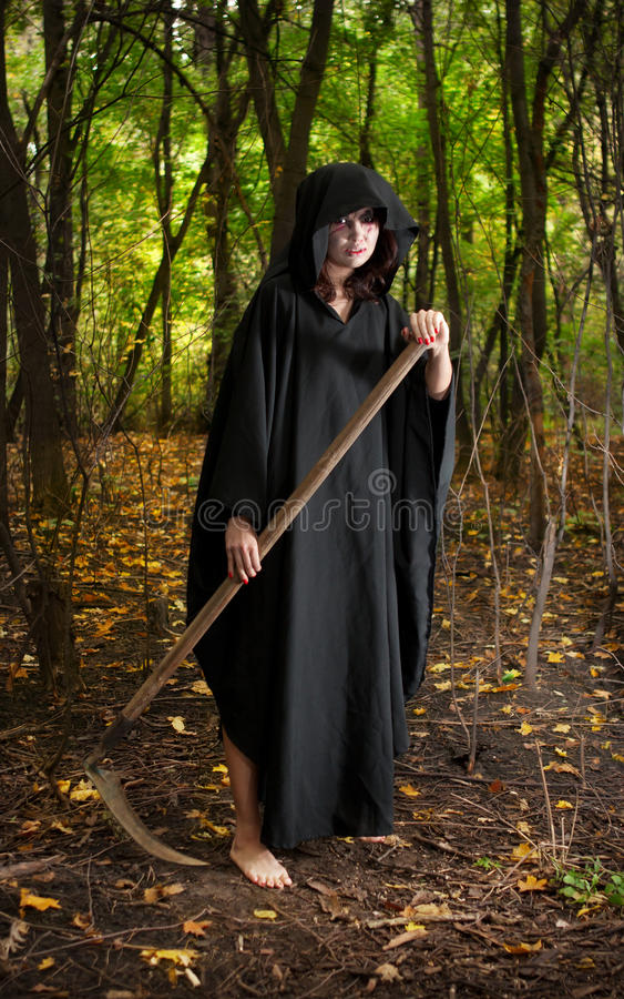 Death with scythe royalty free stock photo