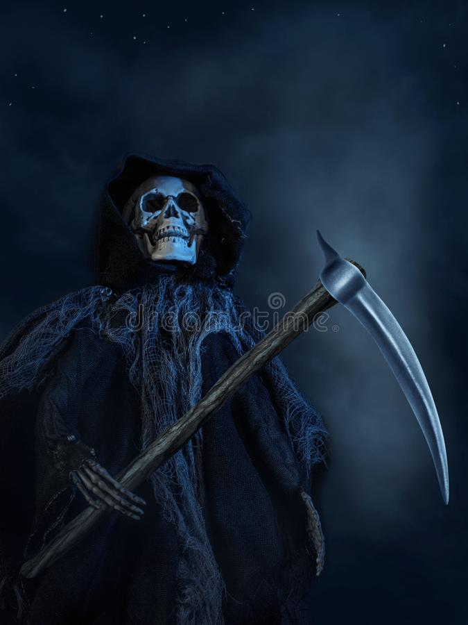 The Death with a scythe royalty free stock image