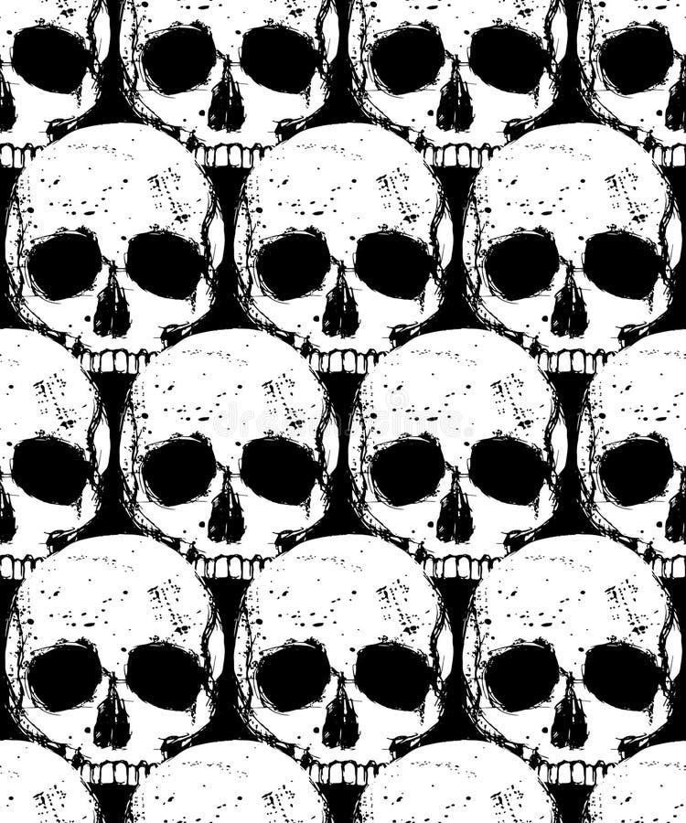Death seamless pattern vector illustration