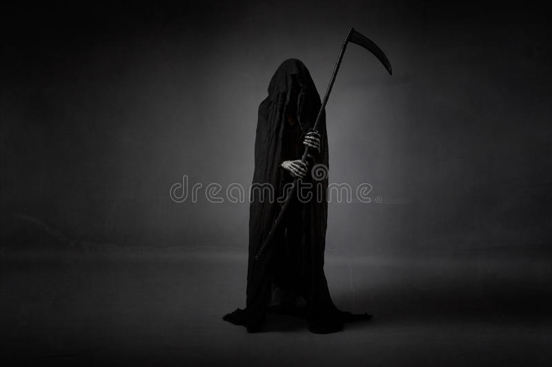 Death with sickle stock photo