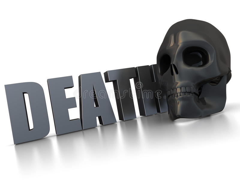 Download Death sign stock illustration. Image of white, abstract - 15509458