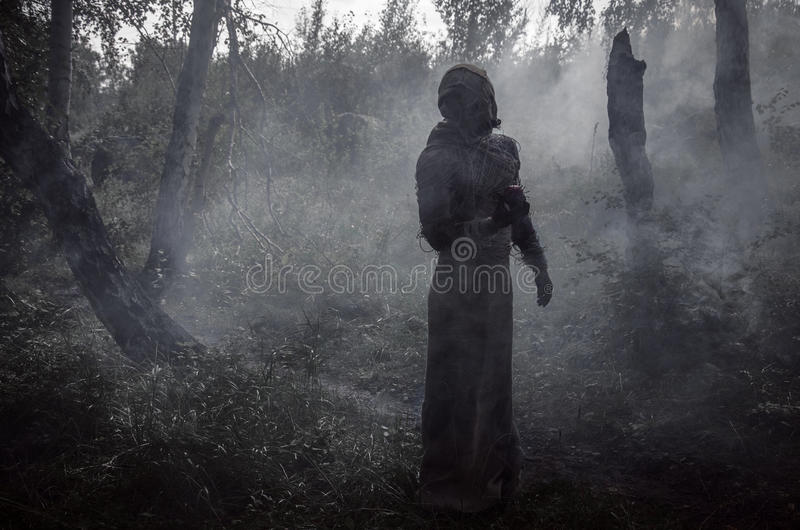 Death in smoke demon royalty free stock photos