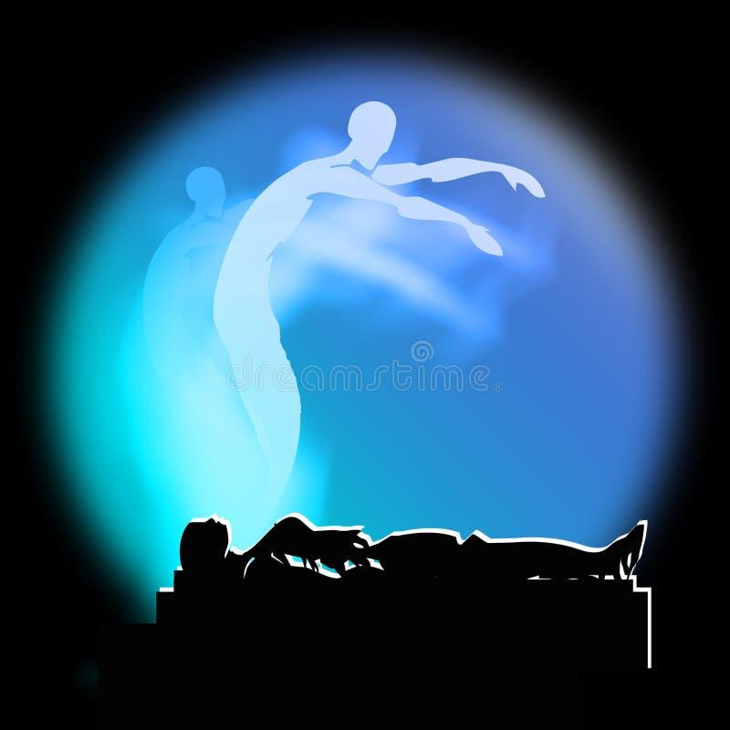Death Soul and Life after death, Afterlife stock illustration