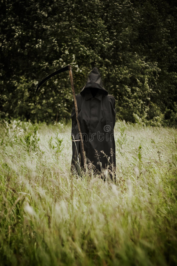 Download Death Standing On A Field Royalty Free Stock Photos - Image: 25432308