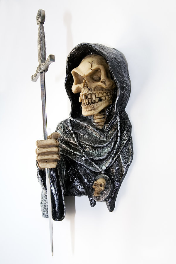 Death with a sword stock photography