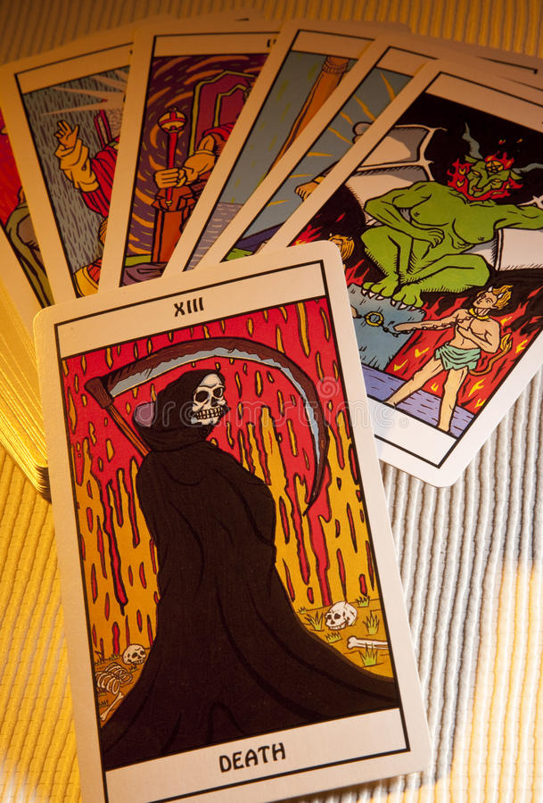 Tarot Cards - Death Prediction royalty free stock images