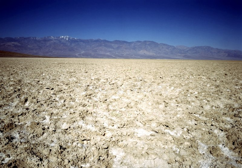 DEATH VALLEY. Salt Ftlats of Death valley royalty free stock photography